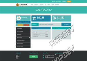 goldcoders hyip template no. 123, account page screenshot