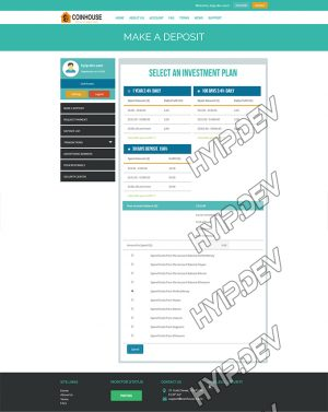 goldcoders hyip template no. 123, deposit page screenshot