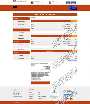 goldcoders hyip template no. 125, deposit page screenshot