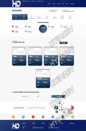 goldcoders hyip template no. 128, deposit page screenshot