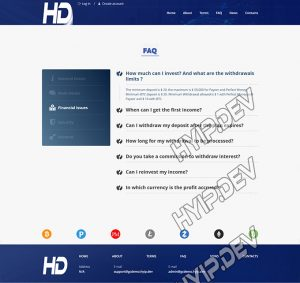 goldcoders hyip template no. 128, default page screenshot