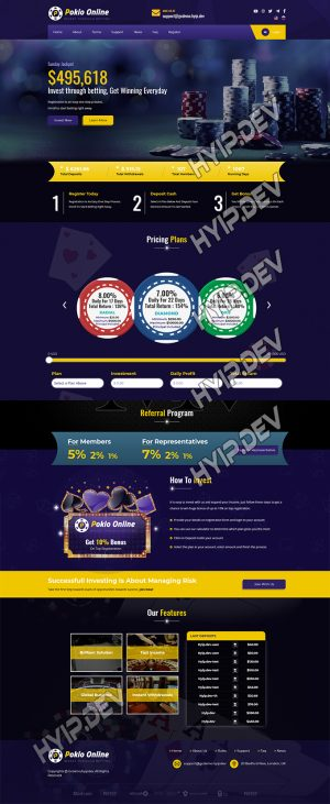 goldcoders hyip template no. 130, home page screenshot