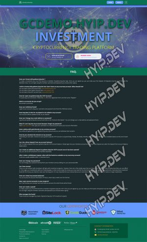 goldcoders hyip template no. 131, default page screenshot