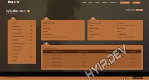 goldcoders hyip template no. 132, account page screenshot