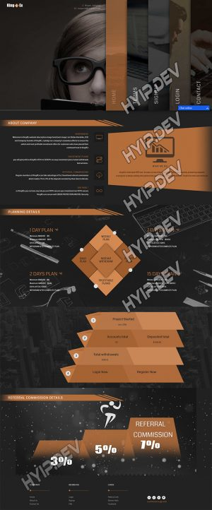 goldcoders hyip template no. 132, home page screenshot