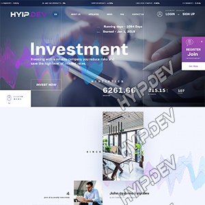 goldcoders hyip template no. 133