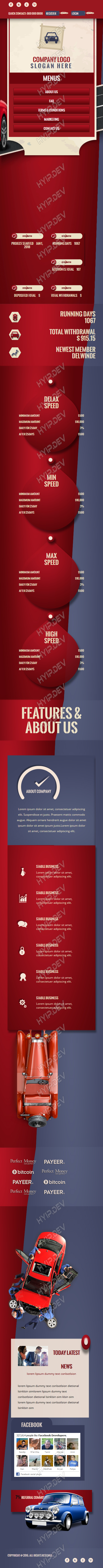 goldcoders hyip template no. 134, responsive page screenshot