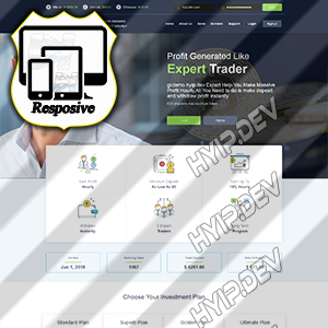 goldcoders hyip template no. 136