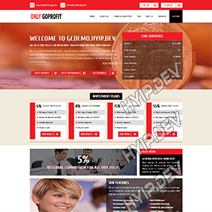 goldcoders hyip template no. 139