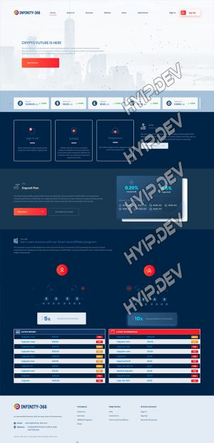 goldcoders hyip template no. 140, home page screenshot