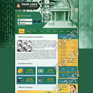 goldcoders hyip template no. 143