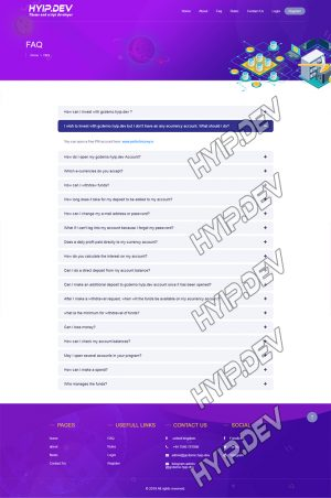 goldcoders hyip template no. 146, default page screenshot