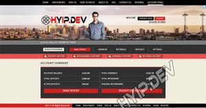 goldcoders hyip template no. 147, account page screenshot