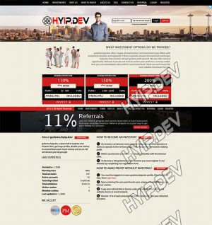goldcoders hyip template no. 147, home page screenshot