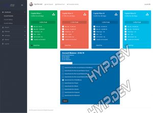 goldcoders hyip template no. 150, deposit page screenshot