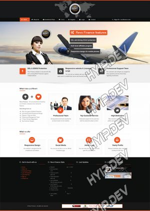 goldcoders hyip template no. 154, home page screenshot