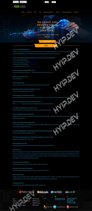 goldcoders hyip template no. 157, default page screenshot