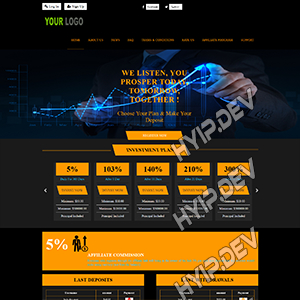 goldcoders hyip template no. 157