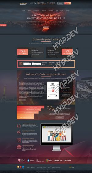 goldcoders hyip template no. 162, home page screenshot