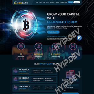 goldcoders hyip template no. 163