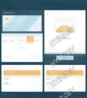 goldcoders hyip template no. 164, account page screenshot