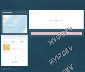 goldcoders hyip template no. 164, referral page screenshot