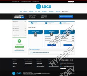 goldcoders hyip template no. 166, account page screenshot