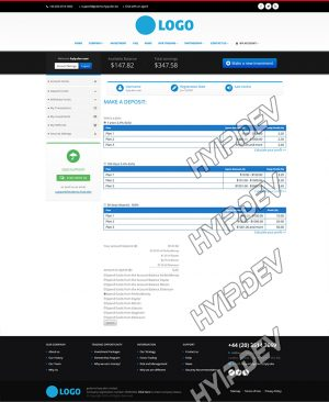 goldcoders hyip template no. 166, deposit page screenshot