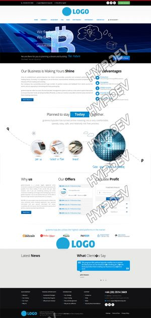 goldcoders hyip template no. 166, home page screenshot