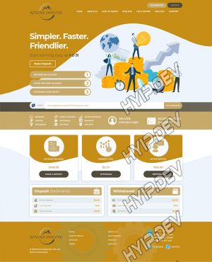 goldcoders hyip template no. 170, account page screenshot