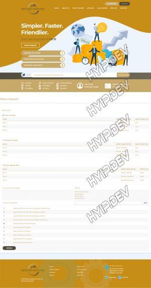 goldcoders hyip template no. 170, deposit page screenshot