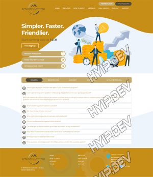 goldcoders hyip template no. 170, default page screenshot