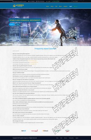 goldcoders hyip template no. 171, default page screenshot