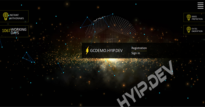 goldcoders hyip template no. 173, home page screenshot