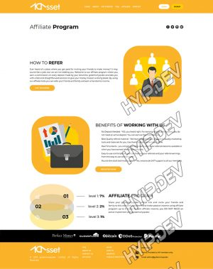 goldcoders hyip template no. 174, about page screenshot