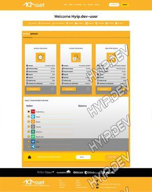 goldcoders hyip template no. 174, deposit page screenshot
