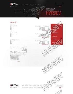 goldcoders hyip template no. 178, deposit page screenshot