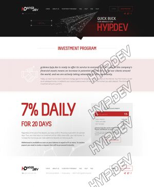 goldcoders hyip template no. 178, plans page screenshot