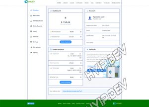goldcoders hyip template no. 179, account page screenshot