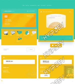 goldcoders hyip template no. 181, account page screenshot