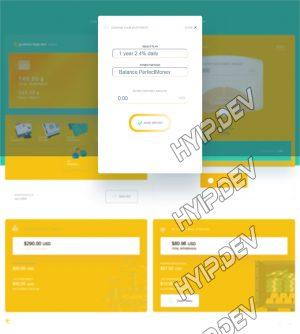 goldcoders hyip template no. 181, deposit page screenshot