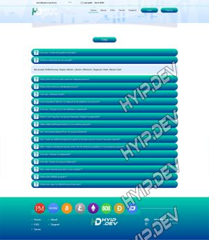 goldcoders hyip template no. 184, default page screenshot