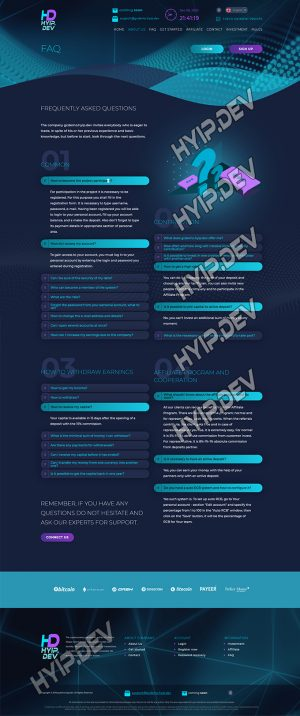 goldcoders hyip template no. 185, default page screenshot