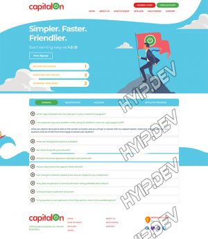 goldcoders hyip template no. 187, default page screenshot